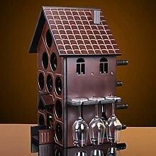 Weinregal, Massivholz Mahagoni Kreative Haus