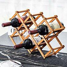 Weinregal mit 10 Flaschen Wein - Buche bester