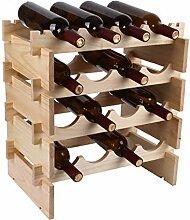 Weinregal mit 12 Flaschen 3-stufiges