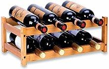 Weinregal mit 8 Flaschen, freistehendes