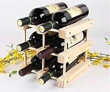 Weinregal mit Kiefernholz DIY Kreatives Holz