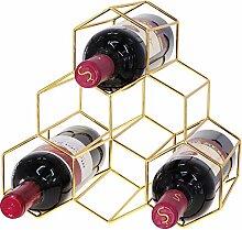 Weinregal mit Wabenstruktur für 6 Flaschen, kein
