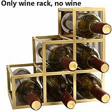Weinregal, Modern Style Weinregal für 6 Flaschen,