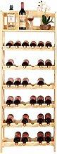 Weinregal Relaxdays Bambus Weinregal 84 x 50 x 24