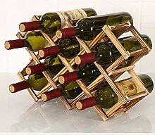 Weinregal Rotwein Holzständer Holz-Rotweinregal