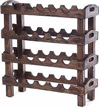 WEINREGAL Rustic | 66x61cm (HxB), Massivholz für