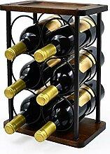 Weinregal, rustikales Holz, für 6 Flaschen