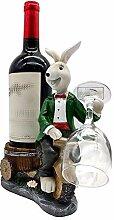 Weinregal, Stilvolle Harz Weinflasche Display