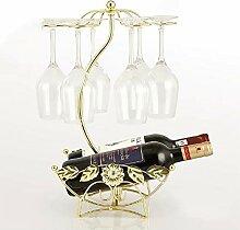 Weinregal, Verkehrter Weinglashalter Für Zu