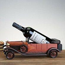 Weinregal, Vintage Oldtimer Modell Massivholz