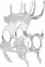 Weinregal Vollaluminium 33 x 14 x 54 cm Silbern