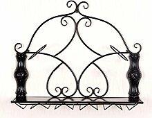 Weinregal Wand Hängen Europäischen Ornamente Seite Hing Weinglas Halter Hängen , Black , 2 Bottles