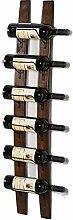 Weinregal Wand Holz Vintage Weinflaschenhalter