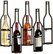 Weinregal Wandbehang Weinglas Halter hängen Weinregal Wein schmiedeeisernen Weinregal ( Farbe : Schwarz )