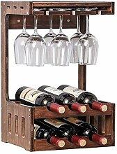 Weinregal Wandmontage bis zu 6 Flaschen Wein und 6