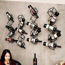 Weinregal Wandmontage Metallbronze 5 Flaschen Für