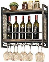 Weinregal Wandmontage Schmiedeeisen Lagerung Wein