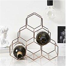 Weinregal Wein Whisky Display Regal Metall 6
