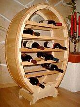 Weinregal Weinfass für 24 Flaschen Natur lackiert