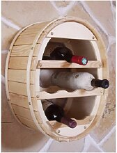 Weinregal Weinfass zum aufhängen 6 Fl. Natur