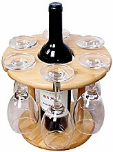 Weinregal Weinglashalter Bambus Tischplatte