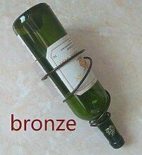 Weinregal Weinregal aus Eisen, Bronze, 3er-Set