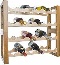 Weinregal Weinregal aus Holz für Kühlbox