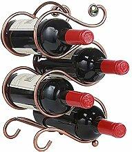 Weinregal, Weinregal für 4 Flaschen, freistehend,