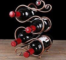 Weinregal Weinregal mit mehreren Flaschen