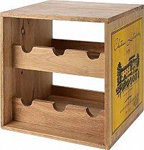 Weinregal Weinschrank 6 Flaschen Holz Neu
