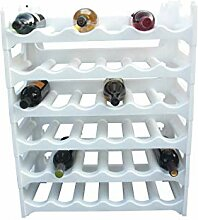 Weinregal Weiß für 36 Flaschen Flaschenregal