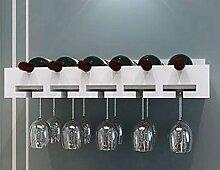 Weinregal ZCJB Holz, Holz Wand-montiert Weinglas