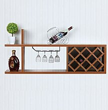 Weinregal zur Wandmontage für bis zu 18 Flaschen