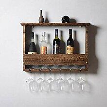 Weinregal zur Wandmontage für bis zu 5 Flaschen