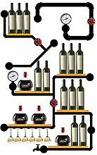 Weinregal zur Wandmontage - für Weinflaschen und