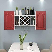 Weinregal zur Wandmontage H1019 (Farbe: Rot)