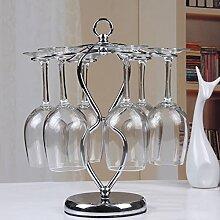 Weinregale , Foxom Edelstahl Tischweinglas Ständer/ Stemware Racks/ Glashalter/ 6 Weinglas Halter , für Zuhause, Bar, Verein Benutzen und Dekoration
