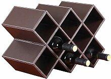 Weinregale Kleines Leder, 8 Flaschen glatter