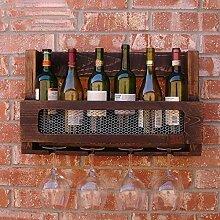 Weinregale Massivholz Weinregal Bar Wandbehang