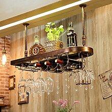 Weinregale Wein Glashalter,Wein Glas Rack, Weinglas Hanger, Stemware Rack,Weinglas Rack Stemware ( Farbe : Bronze colour , größe : 80*28cm )