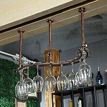 Weinregale Wein Glashalter,Wein Glas Rack, Weinglas Hanger, Stemware Rack,Weinglas Rack Stemware ( Farbe : Bronze , größe : 82*23cm )