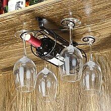 Weinregale Wein Glashalter,Wein Glas Rack, Weinglas Hanger, Stemware Rack,Weinglas Rack Stemware ( Farbe : 1 , größe : 20*23*14cm )