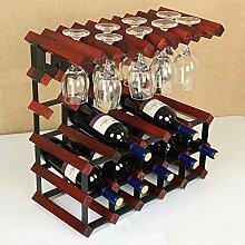 Weinregale Weinregal Massivholz 6 Flaschen