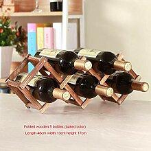 WeinregaleWeinregal aus Holz, zusammenklappbar,