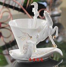 Weinschale Pferd Emaille Kaffeetasse Porzellan Tee