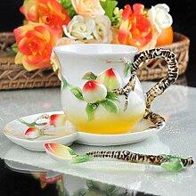 Weinschale Pfirsich Kaffeetasse Farbige Emaille