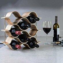 Weinschränke Holz Wave Weinregal Freistehend für