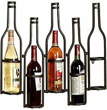 Weinschrank aus Schmiedeeisen-Weinregal (Color :