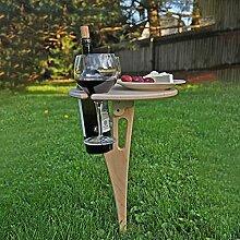 Weintisch Tragbar Outdoor,Weinregal Holz für