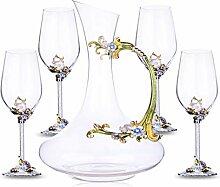Weintrenner Dekanter Kristall Glas Rotweinglas